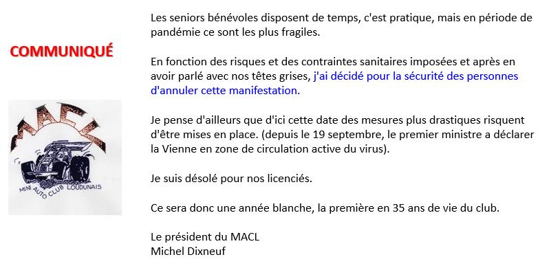 Communiqué MACL