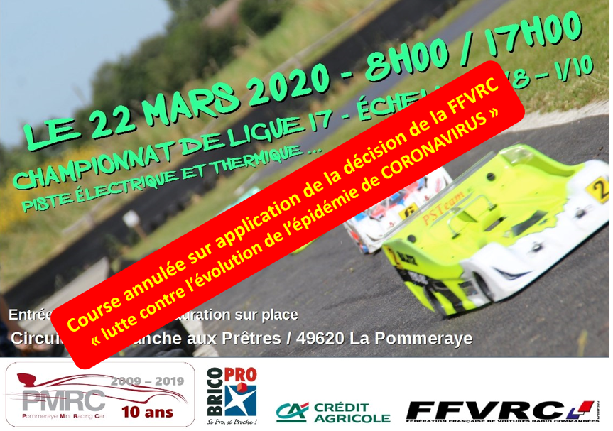 Annulation course du 22 mars - PMRC