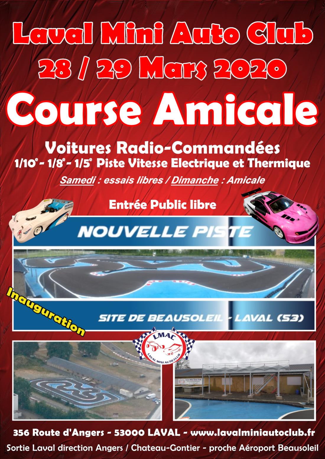 Affiche Amicale LMAC - 2ç mars 2020